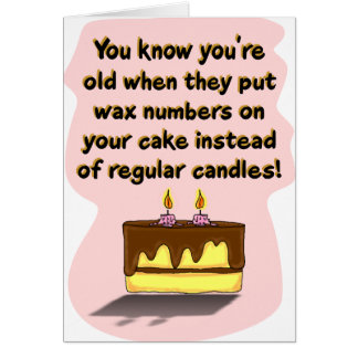 Funny Birthday Card: Birthday Candles Greeting Card
