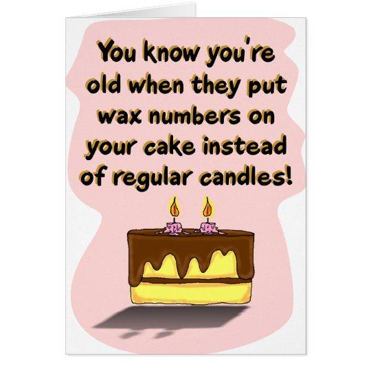 Funny Birthday Card: Birthday Candles Card