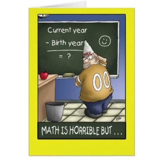 Funny Birthday Card: Birthday Math 2 Greeting Card
