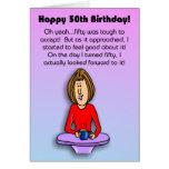 Funny Birthday Card:  Celebrating 50th Birthday Greeting Card