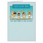 Funny birthday card: Excited Dogs
