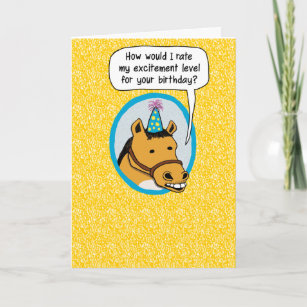 Funny Horse Birthday Cards Zazzle Uk