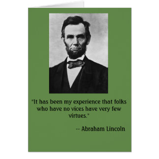 Funny birthday card featuring Abe Lincoln