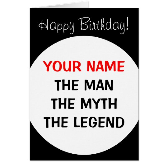 Funny Birthday card for men | The man