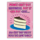 Funny Birthday Card for woman - Happiness is Cake!