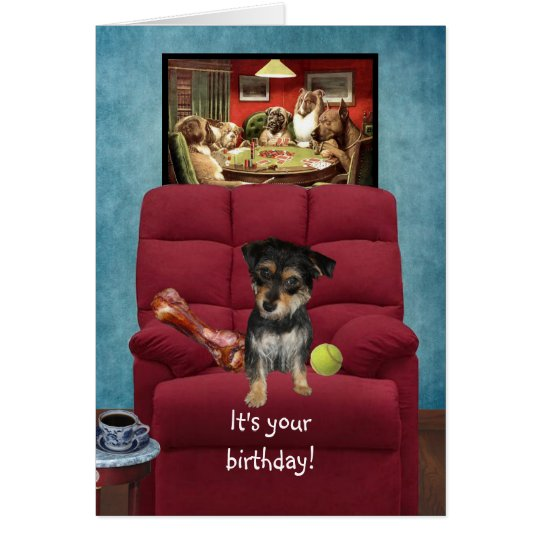 Funny Birthday Card from a Dog