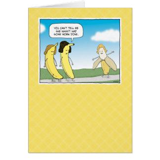 Funny birthday card: Go Bananas! Card
