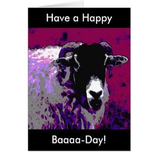 Funny Birthday Card Have a Happy Baa Day Sheep