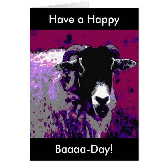 Funny Birthday Card Have a Happy Baa Day