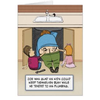 Funny birthday card Joe the Plumber