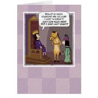 Funny birthday card Kingdom For a Horse