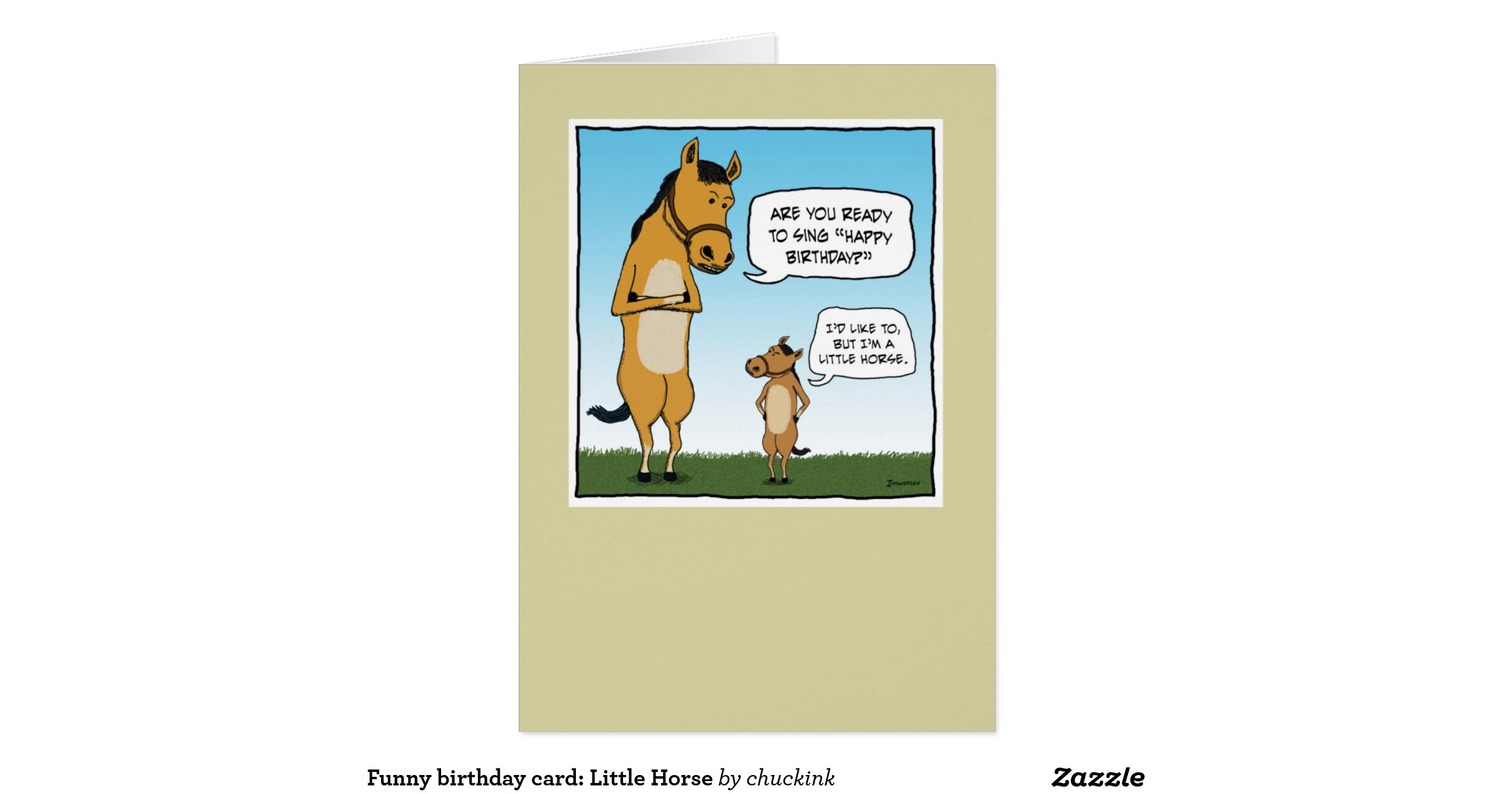 Funny birthday card little horse greeting zazzle