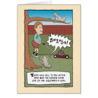 Funny birthday card: Squirrel Nuts Card