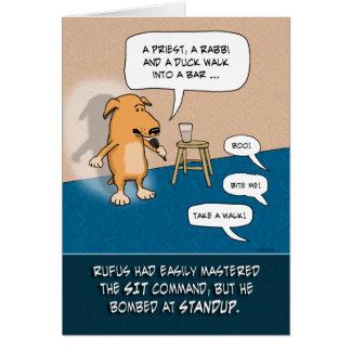 Funny birthday card: Standup Dog
