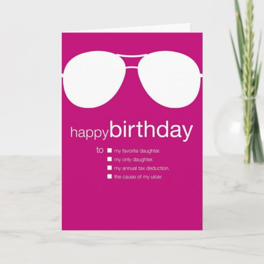 Funny Birthday Card To Daughter