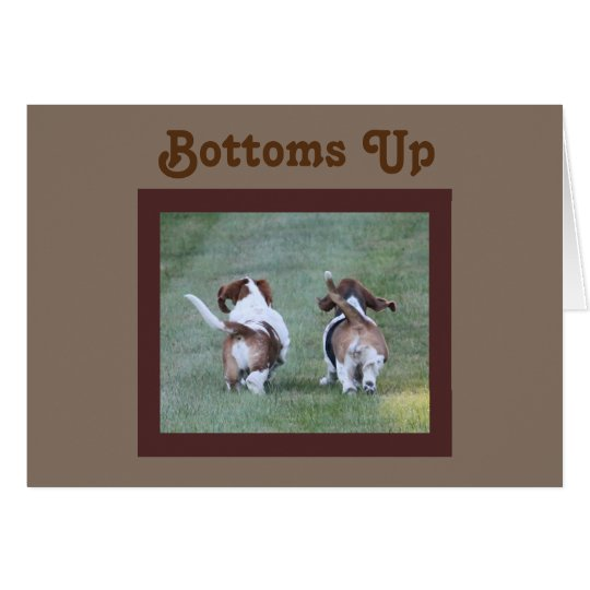 Funny Birthday Card w/Basset Hounds and a Toast