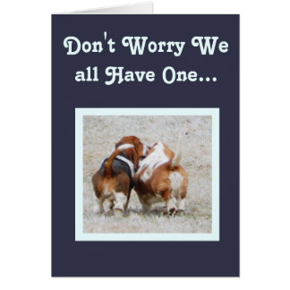 Funny Birthday Card With Cute Basset Hounds