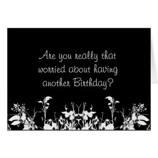 Funny Birthday Card with Verse