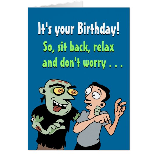 Funny Birthday Card: Zombie plan Card