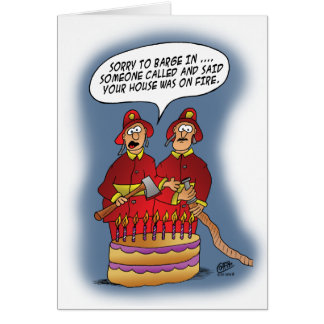 Funny Birthday Cards: Fire Alarm Card