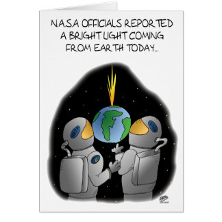 Funny Birthday Cards: NASA Officials Card