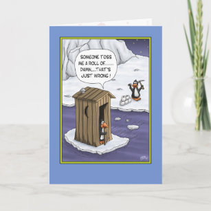 Funny Birthday Cards Penguin Pranks Card