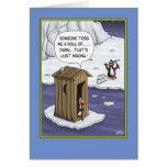 Funny Birthday Cards: Penguin Pranks Greeting Card