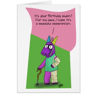 Funny Birthday Cards: Pinata Abuse Greeting Card