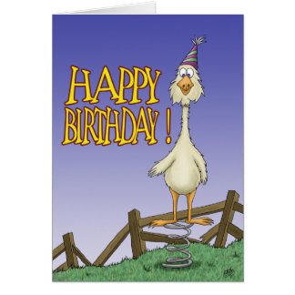 Funny Birthday Cards Spring Chicken 2