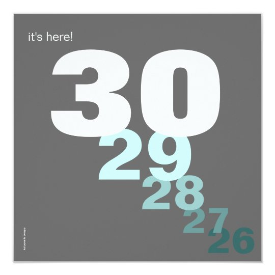 Funny Birthday Countdown Party Invitation