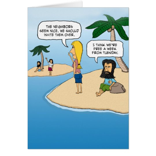 Funny Birthday: Desert Island Card