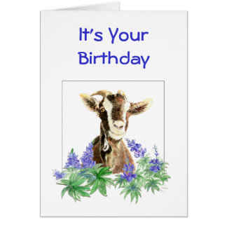 Funny Birthday, flowers from  Old Goat Humor Card