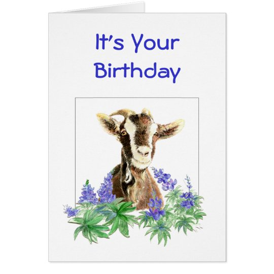 Funny goat cards invitations zazzle funny birthday flowers from old goat humour card bookmarktalkfo Image collections