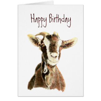Funny Birthday, From the Old Goat who Loves YOU Greeting Card