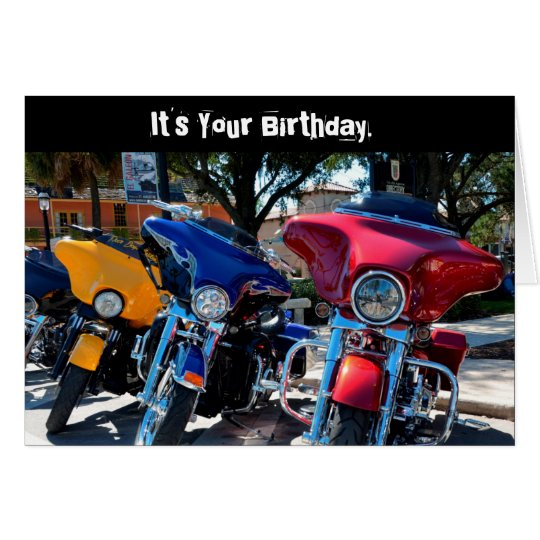 Funny Birthday Harley Whole Hawg (Hog) Card