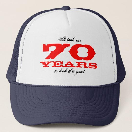 Funny Birthday hat for 70 year old