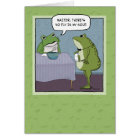 Funny Birthday: No Fly for Frog Card