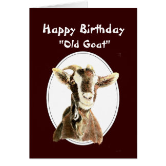 Funny Birthday Over the Hill now an Old Goat Greeting Card