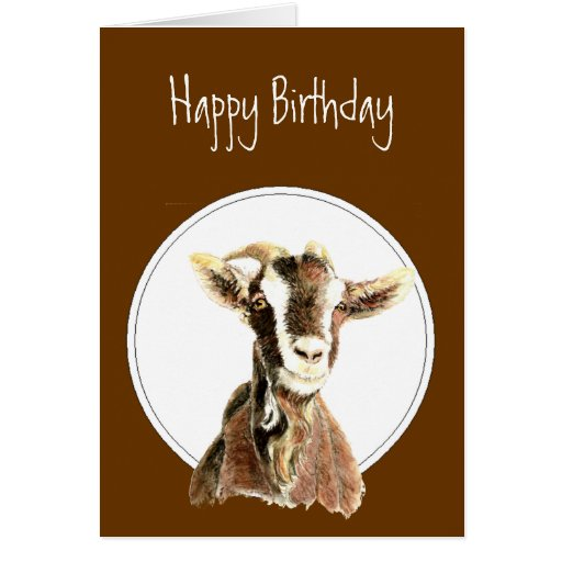 Funny Birthday, Over the Hill, Old Goat Humor Greeting Cards