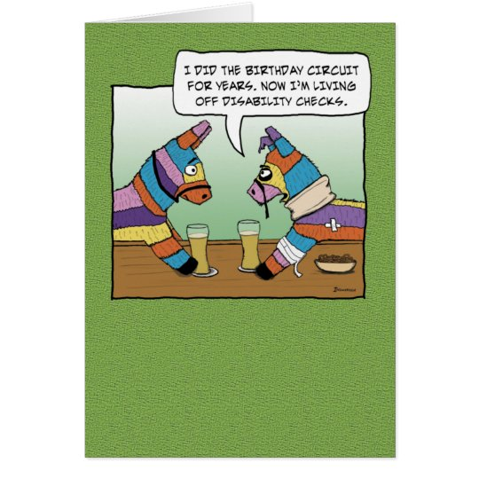 Funny Birthday: Pinata on Disability Card