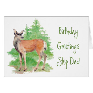 Funny Birthday Step Dad ,Someone Deer to my Heart Card