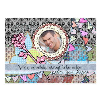 Funny birthday template photo card- Brother-in-law 13 Cm X 18 Cm Invitation Card