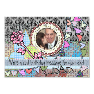 Funny birthday template photo card - dad