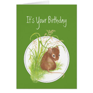 Funny, Birthday to Mice Person.Cute Mouse Card
