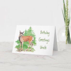 Funny Birthday Uncle,Someone Deer to my Heart Card