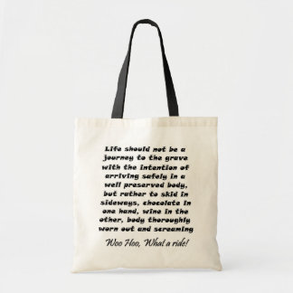 Funny birthday wine gifts tote bags over the hill
