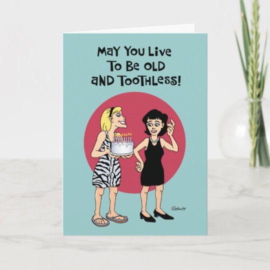 Funny Birthday Wish For Female Friend Card Zazzle Co Uk