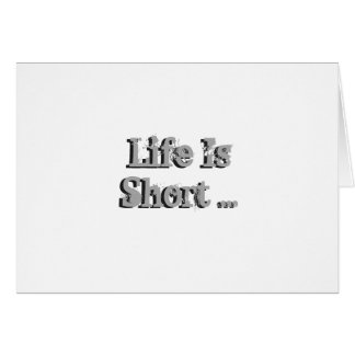 Funny birthday Wishes, black on silver. Greeting Card