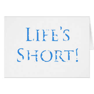 Funny birthday Wishes, blu, decayed text on white. Greeting Card