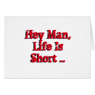 Funny birthday Wishes, red, black on white. Greeting Card